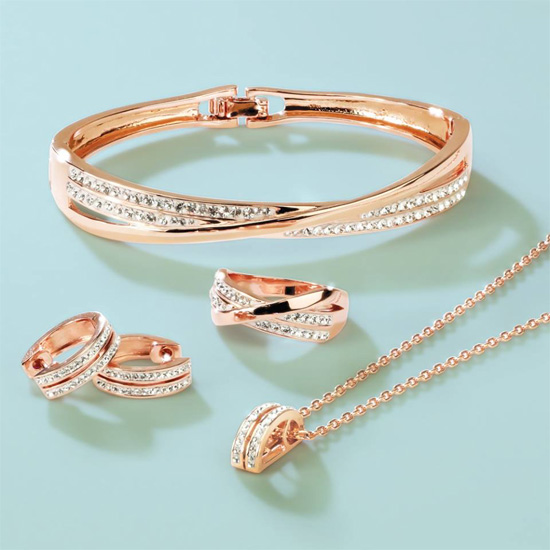 This Stunning Collection Of Dazzling Jewellery From Warren James Is Hand Set With Swarovski Crystals With A Rose Gold Finish For Added Luxury Buy It
