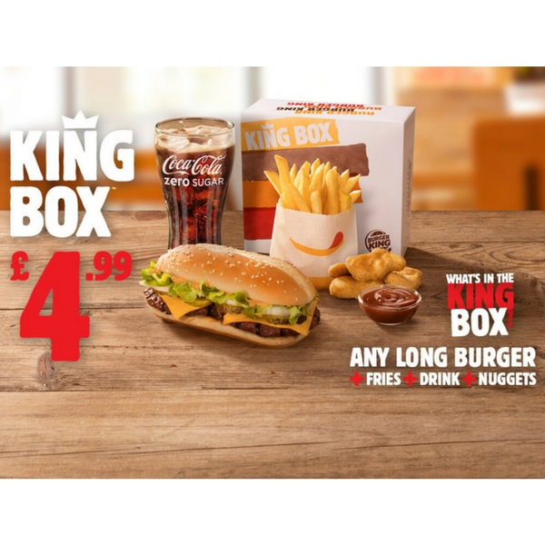 A meal for kings at Burger King