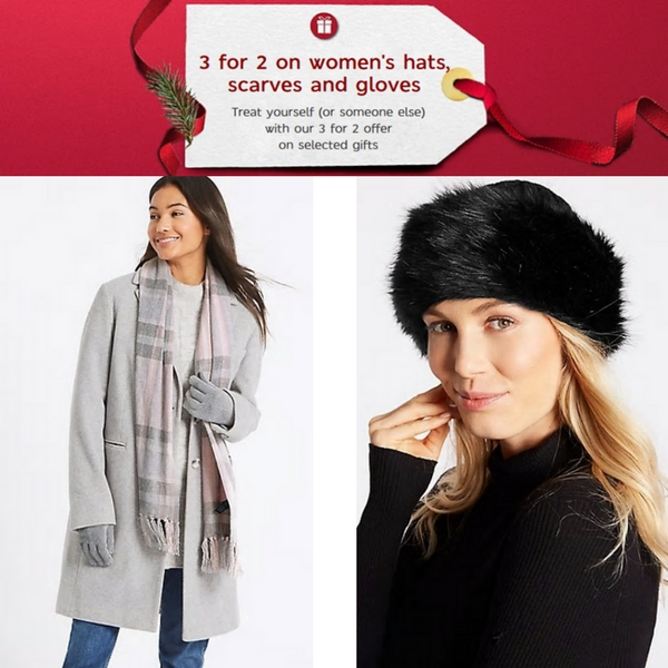 3 for 2 winter accessories at M&S
