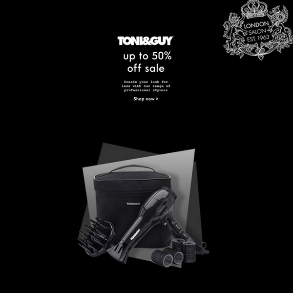 50% off style at Toni & Guy