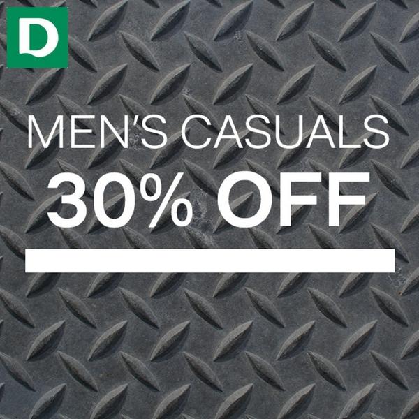 30% off men's styles at Deichmann