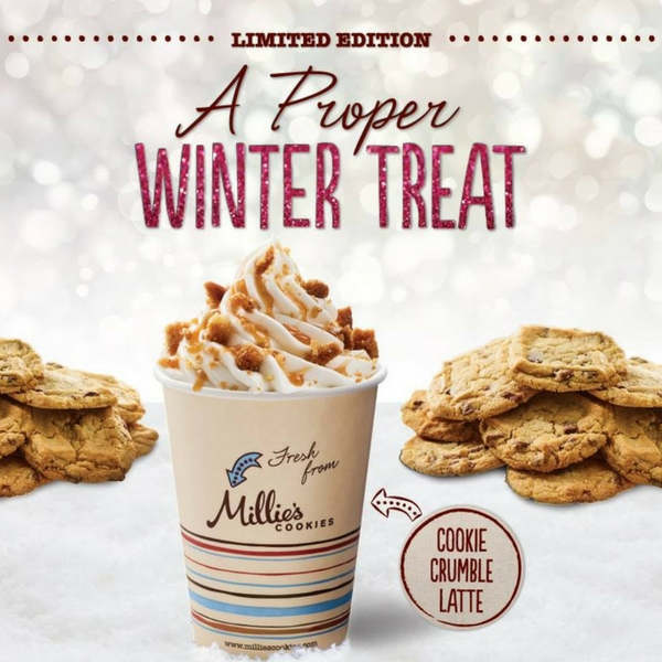 Winter treats at Millie's Cookies
