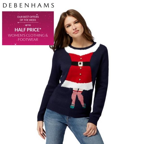 Half price fashion at Debenhams